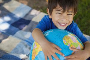 Kid and Globe