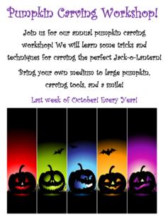 Pumpkin Carving Workshop